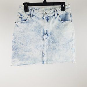 NEW Topshop Light Acid Wash Bleach Denim Skirt